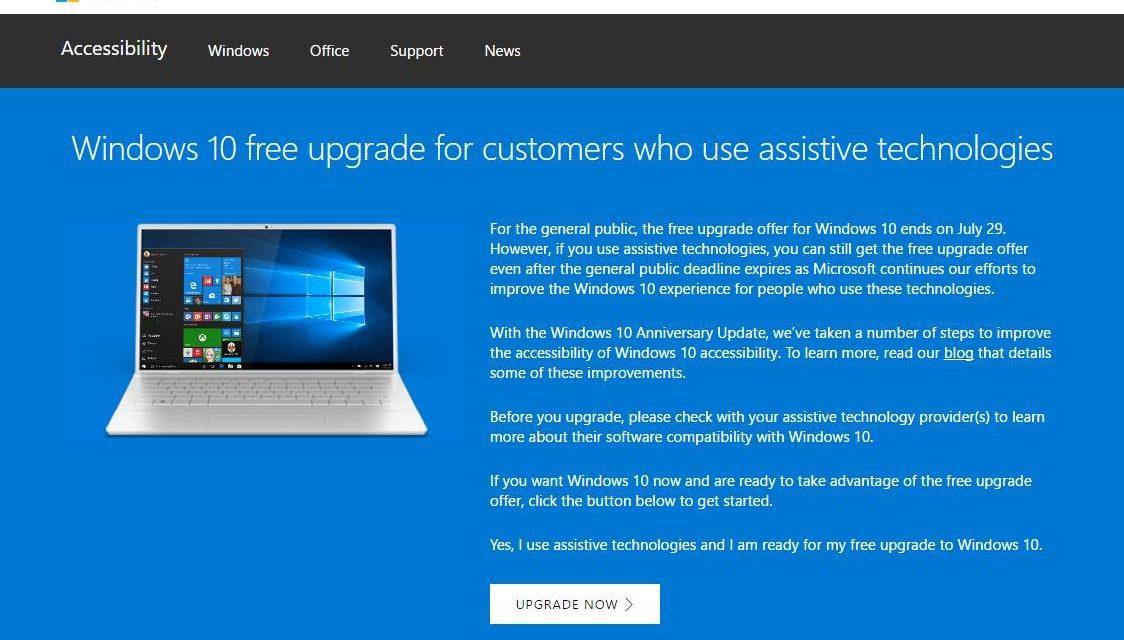 Comment mettre passer à windows 10 gratuitement après le 29 juillet