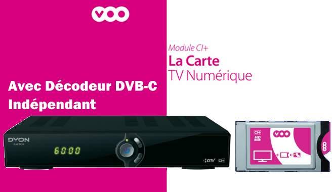 Remplacer Voobox ou Voocorder par un décodeur Dvb-C avec port CI+