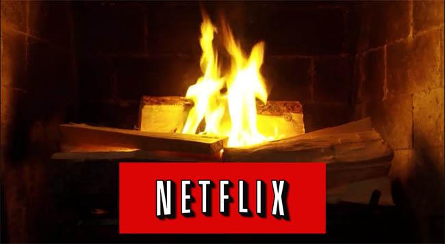 Vidéo d'un feu ouvert sur Netflix