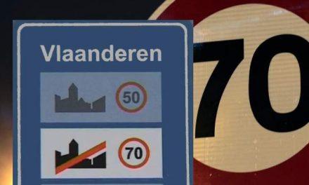 70 km/h Hors agglomération en Flandre en 2017