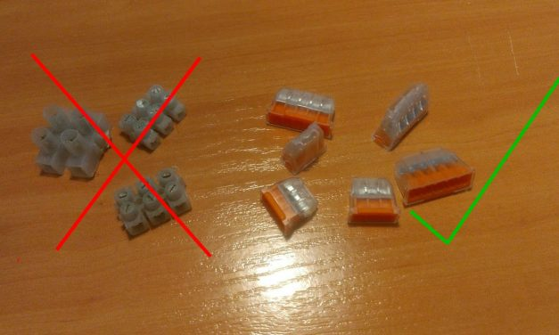 Sécurité électrique : raccord de lustre, sucre, dangereux