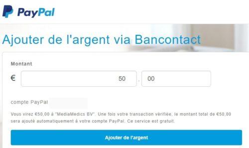 Paypal Belgique Contact et créditer le compte