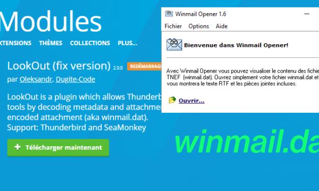 Comment ouvrir une pièce jointe au format winmail.dat ?
