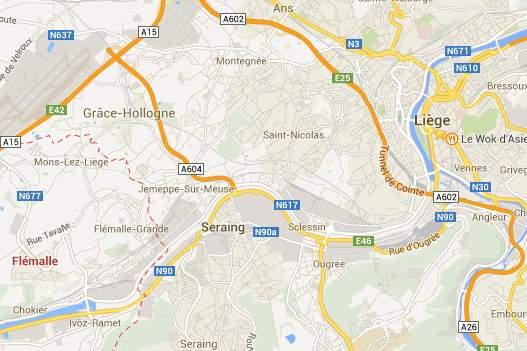 Google map à canalisé la Meuse et asséché le port des yachts à Liège
