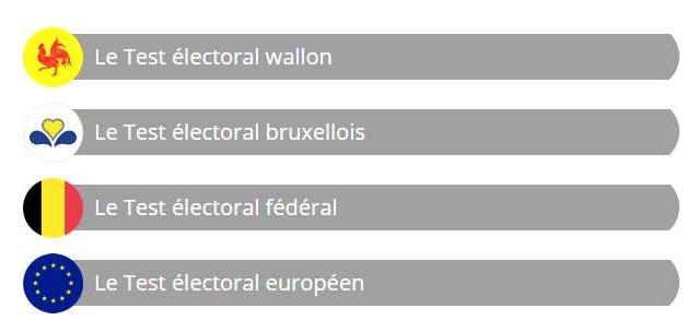 Test électoral éducatif anonyme Belge